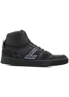 Lanvin logo patch high top sneakers