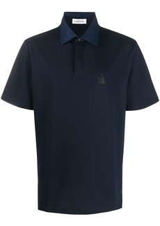 Lanvin logo patch polo shirt