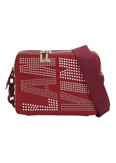 Lanvin Logo Perforated Shoulder Bag