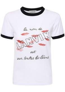 Lanvin Logo Print Cotton Jersey T-shirt