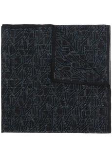 Lanvin logo print scarf