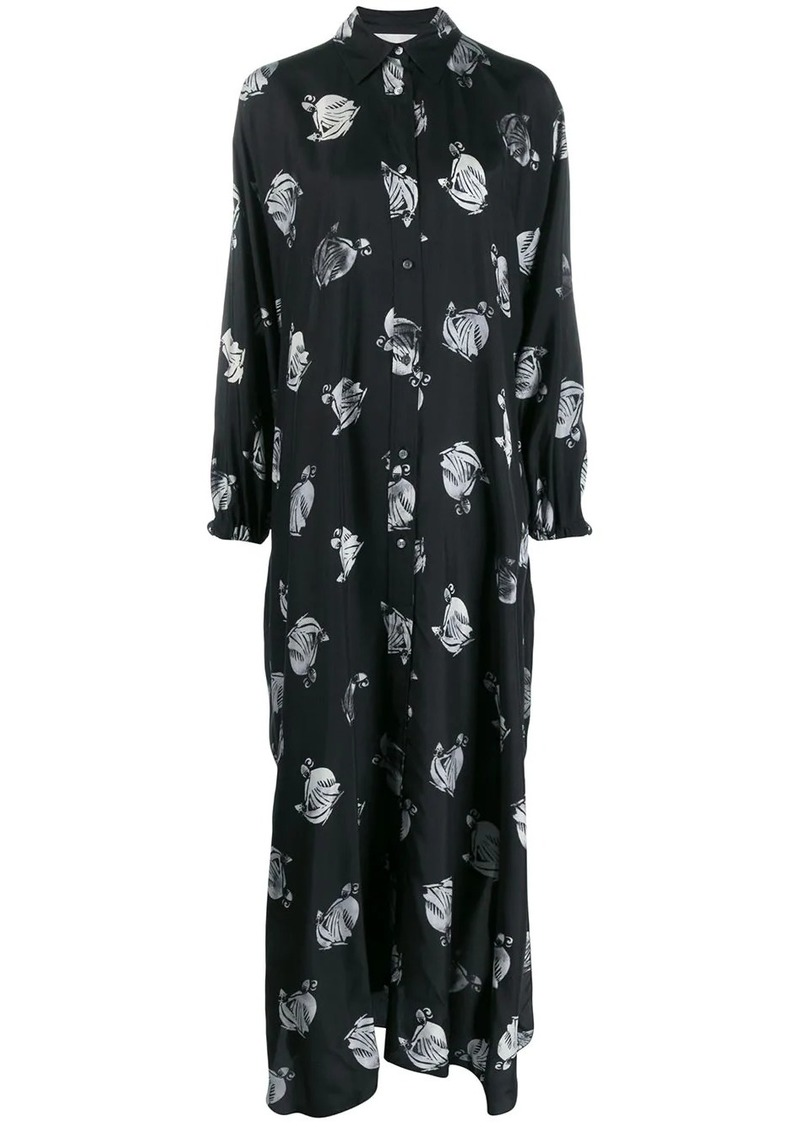 Lanvin logo print shirt dress