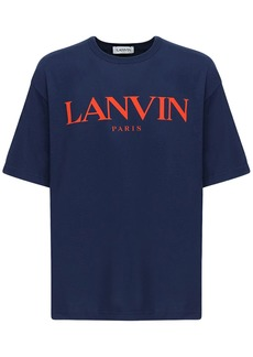 Lanvin Logo Printed Cotton T-shirt