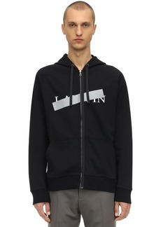 Lanvin Logo Zip-up Cotton Sweatshirt Hoodie