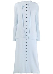 Lanvin long layered knitted dress