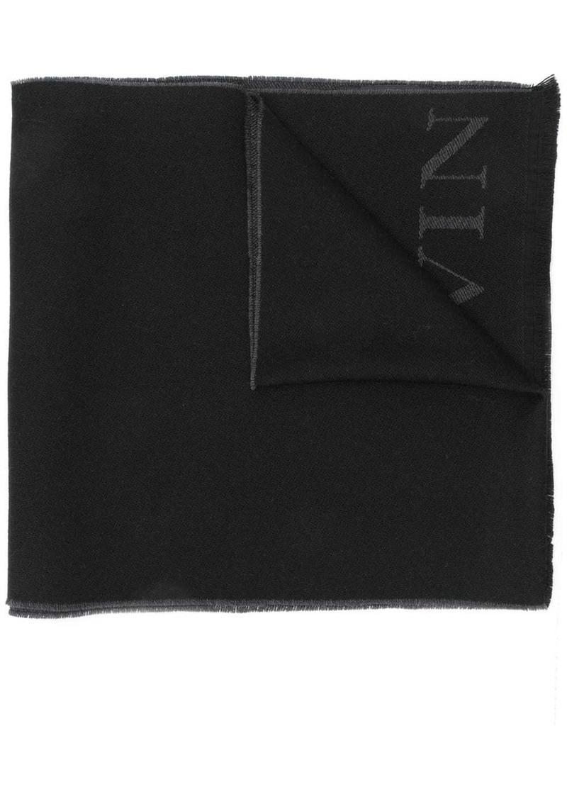 Lanvin long logo scarf