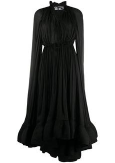 Lanvin long long-sleeved ruffle gown