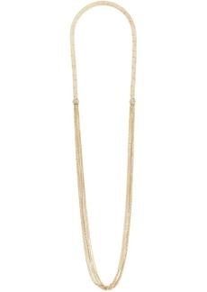 Lanvin long thin chain and fringe necklace