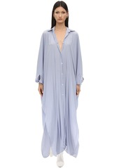 Lanvin Maxi Techno Shirt Dress