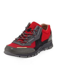 Lanvin Men's Colorblock Mesh Trainer Sneakers