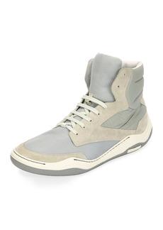 Lanvin Men's Mesh & Suede Indoor High-Top Sneaker