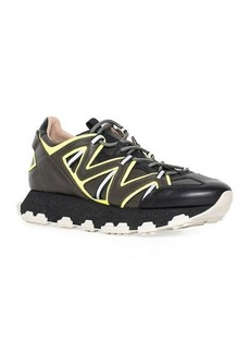 Lanvin Men's Running Sneakers in Leather and Reflective Colorblock