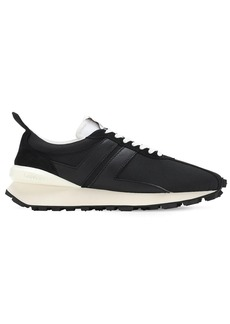 Lanvin Mesh & Leather Running Sneakers