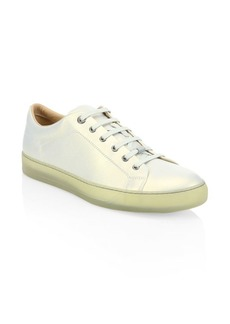 Lanvin Metallized Leather Low-Top Sneakers