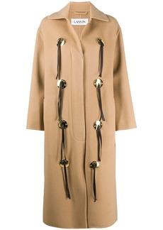 Lanvin mid-length button-detail coat