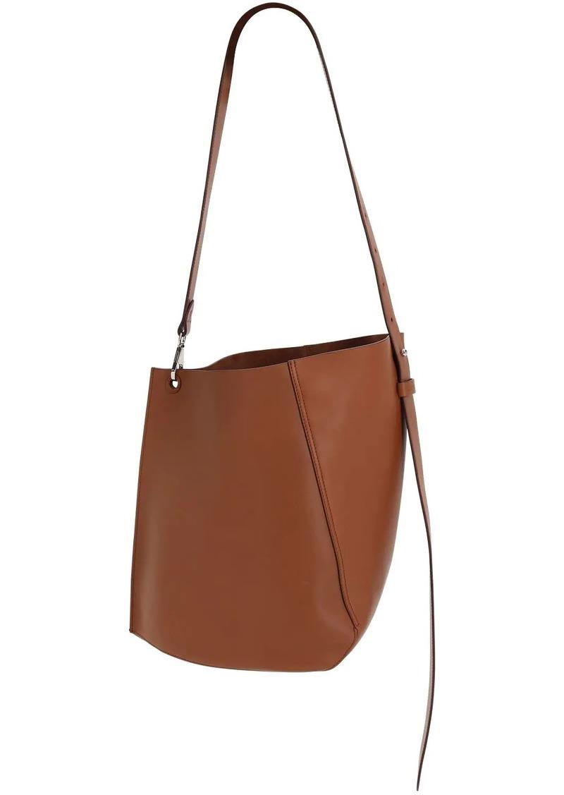 Lanvin Mini Hook Leather Bucket Bag