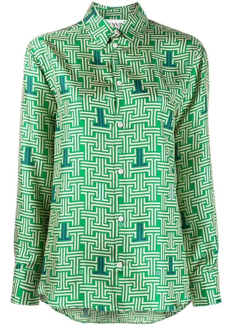 Lanvin monogram print shirt