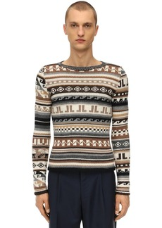 Lanvin Monogram Virgin Wool Blend Sweater