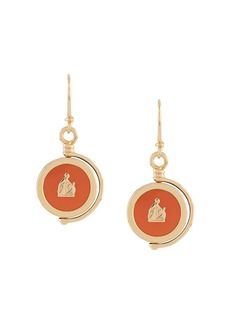 Lanvin Mother and Child pendant earrings