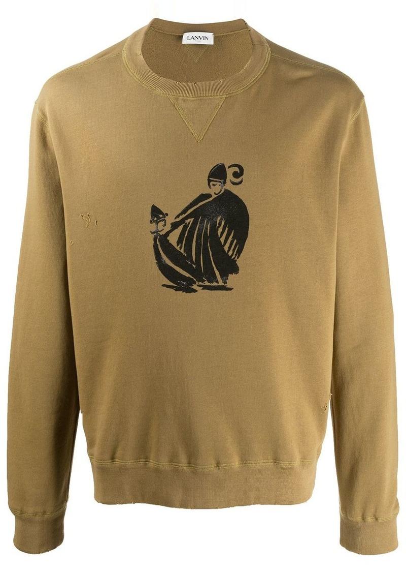Lanvin Mother and Child print sweatshirt