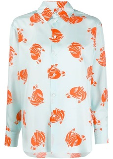 Lanvin Mother and Child printed shirt