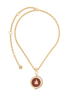 Lanvin Mother and Child rotary pendant necklace