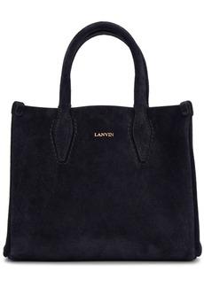 Lanvin Navy Nano Shopper Tote