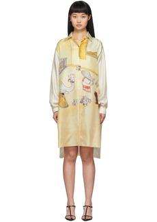 Lanvin Off-White Babar Edition Silk Shirt Dress