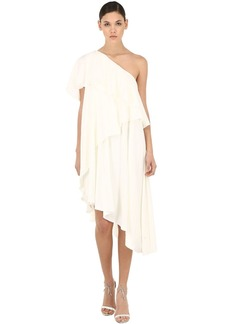 Lanvin One Shoulder Ruffled Dress