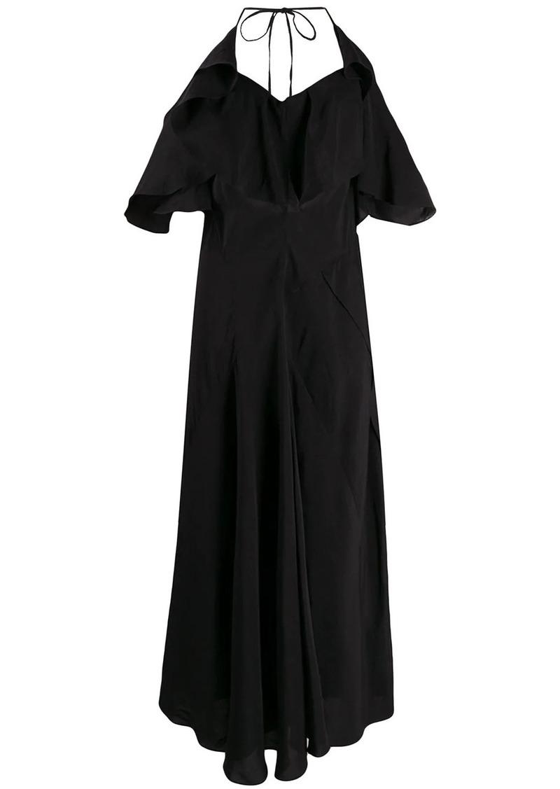 Lanvin open back ruffled dress