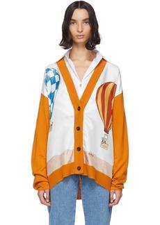 Lanvin Orange Babar Edition Wool & Silk Cardigan