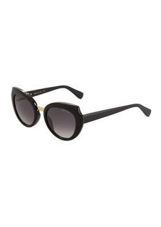 Lanvin Oversized Round Acetate Sunglasses