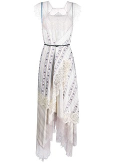 Lanvin patchwork lace maxi dress