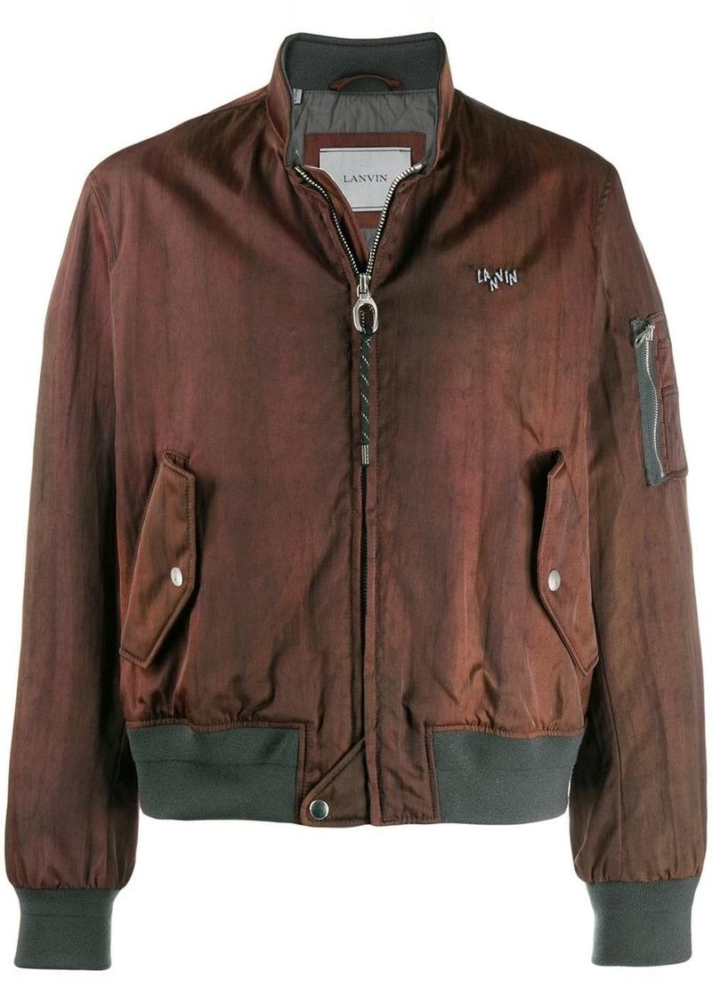 Lanvin patterned bomber jacket