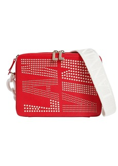 Lanvin Perforated Logo Leather Camera Bag