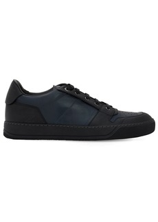 Lanvin Perforated Low Top Leather Sneakers