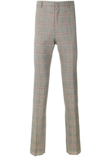 Lanvin plaid high-waisted trousers