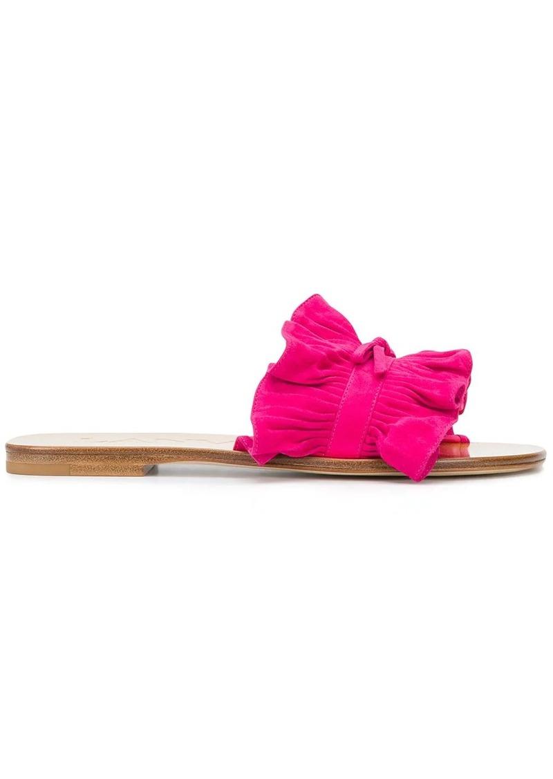 Lanvin pleated detail sandals
