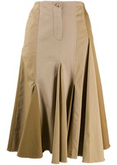 Lanvin pleated patchwork skirt