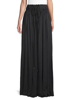 Lanvin Pleated Self-Tie Skirt