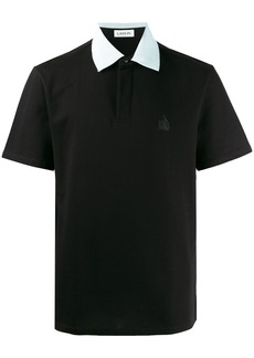 Lanvin embroidered logo polo shirt