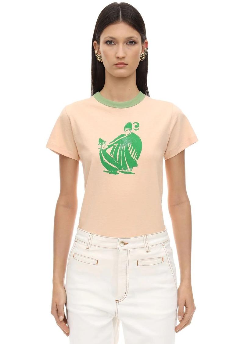 Lanvin Printed Cotton Jersey T-shirt