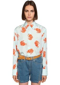 Lanvin Printed Silk Satin Shirt