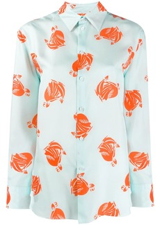 Lanvin printed silk shirt