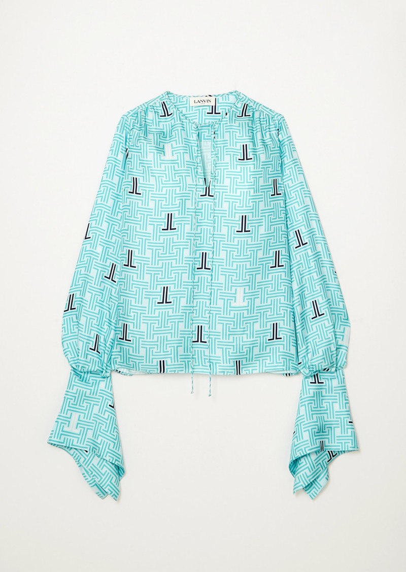 Lanvin Printed Silk-twill Blouse