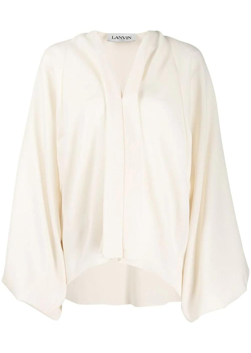 Lanvin puff sleeve blouse