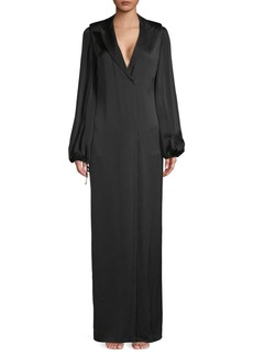 Lanvin Puffed-Sleeve Long Gown