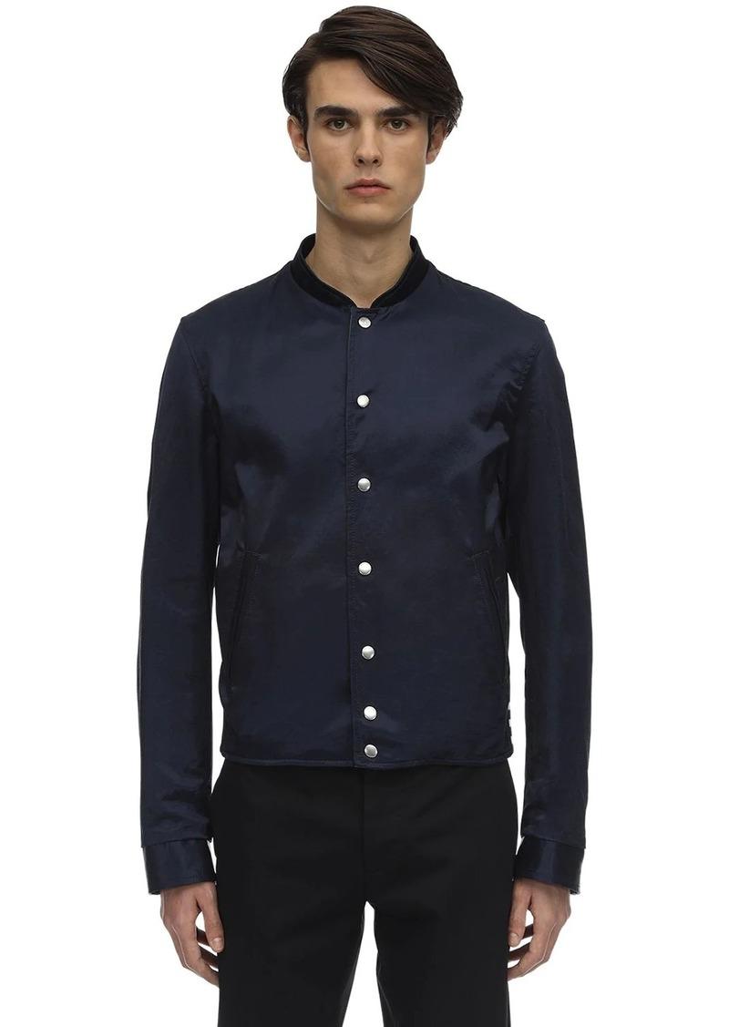 Lanvin Reversible Cotton & Rayon Bomber Jacket