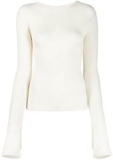 Lanvin ribbed fitted jumper