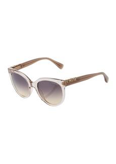 Lanvin Round Semi-Transparent Acetate Sunglasses